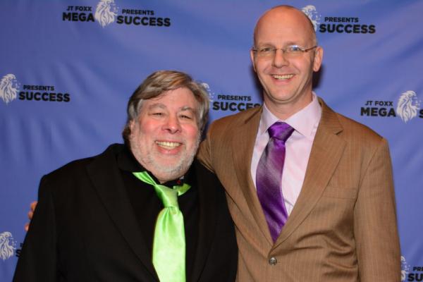 Steve Wozniak at Megasuccess 2017 with Erwin Wils