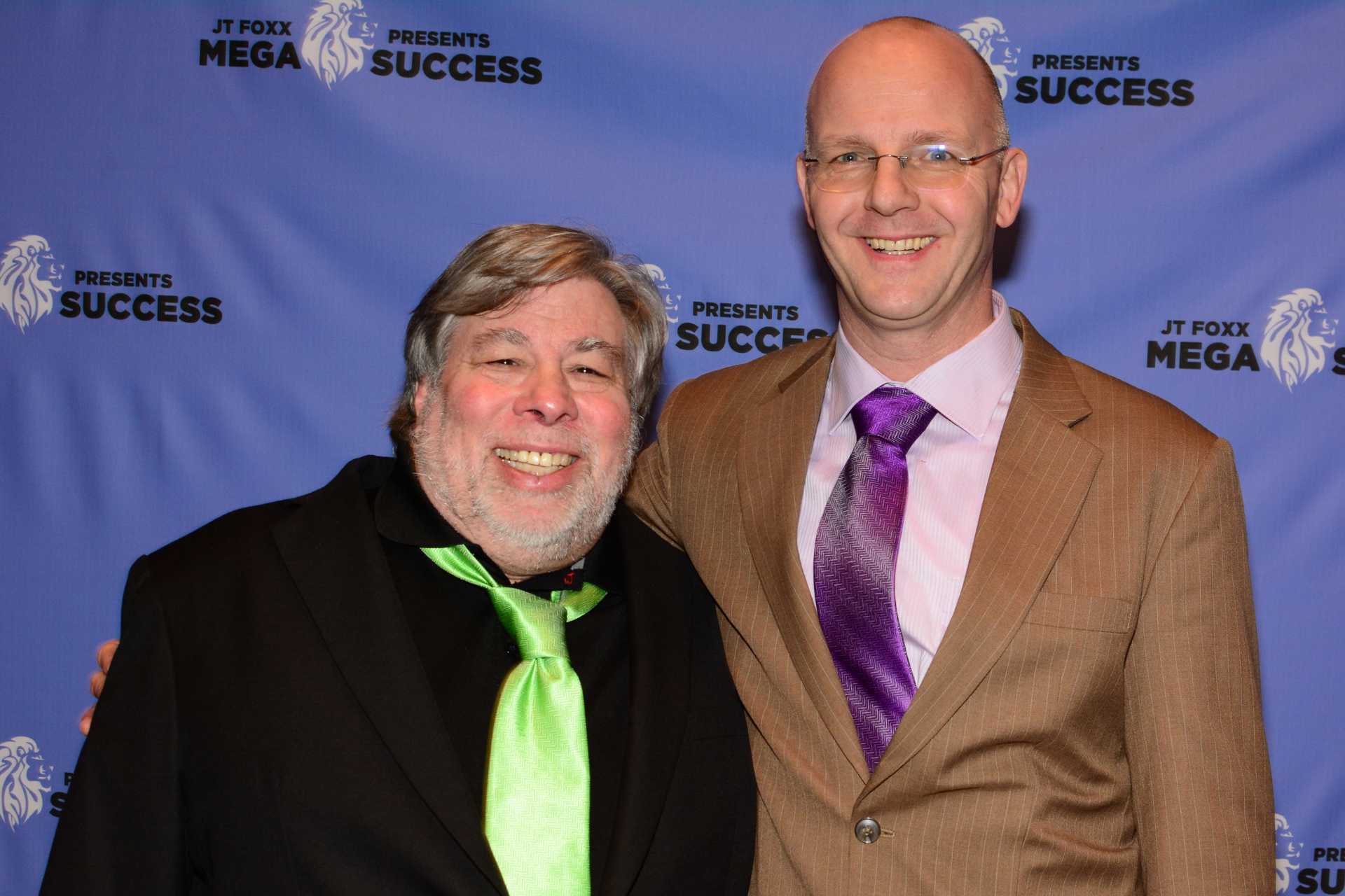 Steve Wozniak at Megasuccess 2017 with Erwin Wils