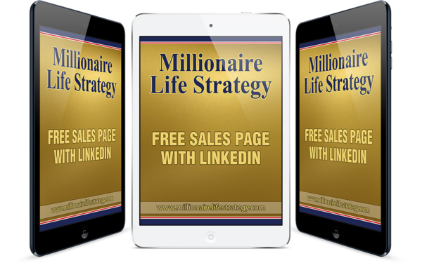 Online training a free sales page with LinkedIn